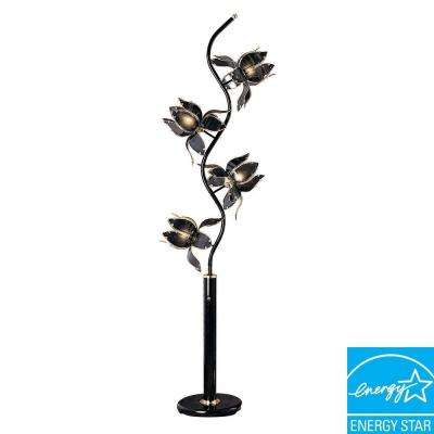 76 in. Black Floor Lamp