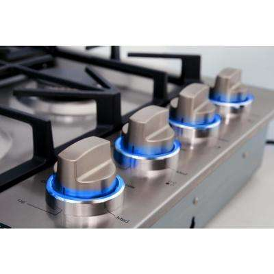 30 in. Drop-in Gas Cooktop in Stainless Steel