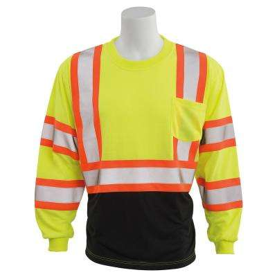 9804SBC HVL/Black Polyester Safety T-Shirt