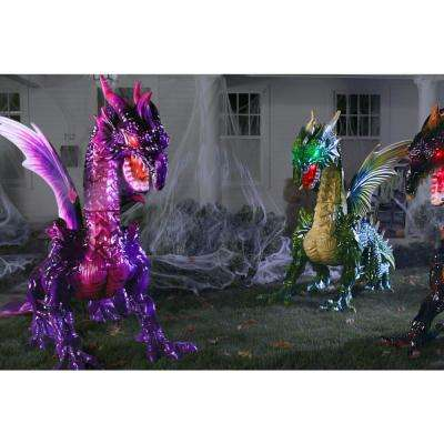 69in. Animated Giant Mystic Dragon without Fog Machine