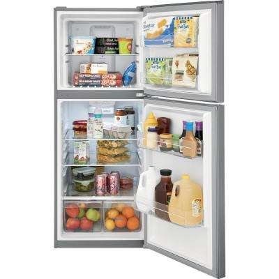 10.1 cu. ft. Top Freezer Refrigerator in Brushed Steel, ENERGY STAR