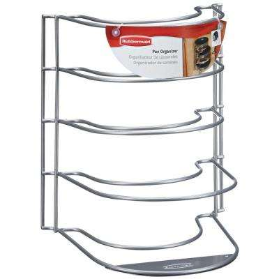 9.38 in. L x 10 in. W x 11.75 in. H Metal in Cabinet Stand Alone Pan Organizer