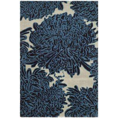 Chrysanthemum Wrought Iron 9 ft. x 12 ft. Area Rug