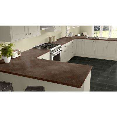 2 in. x 3 in. Laminate Countertop Sample in Oxide with Standard Matte Finish