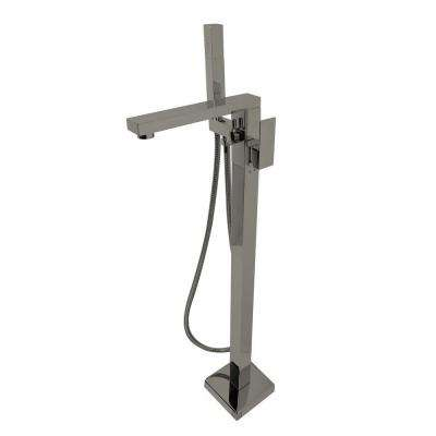Brilliant Series 2-Handle Freestanding Claw Foot Tub Faucet with Handshower in Brushed Nickel