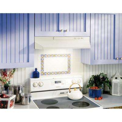 43000 Series 30 in. Convertible Under Cabinet Range Hood with Light in Bisque