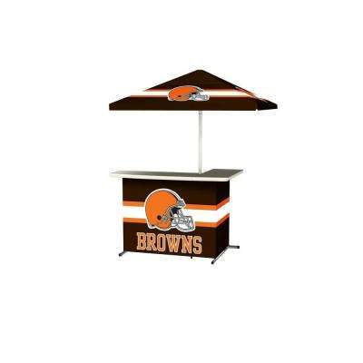 Cleveland Browns All-Weather L-Shaped Patio Bar with 6 ft. Umbrella