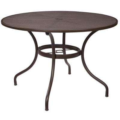 Mix and Match 42 in. Round Mesh Outdoor Patio Dining Table
