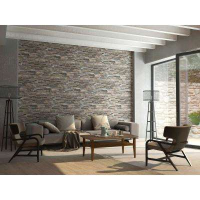 3D Retro 16/1000 in. x 38 in. x 19 in. Grey PVC Wall Panel