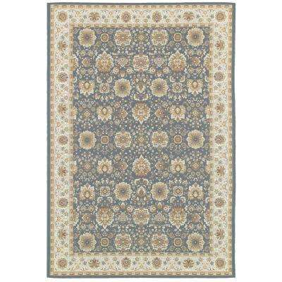 Basile Blue 9 ft. 10 in. x 12 ft. 9 in. Area Rug
