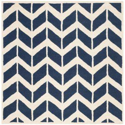 Cambridge Navy/Ivory 6 ft. x 6 ft. Square Area Rug