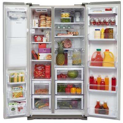 22.3 cu. ft. Side by Side Refrigerator in Stainless Steel, Counter Depth