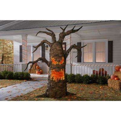 8 ft Giant- Sized LED Spooky Tree