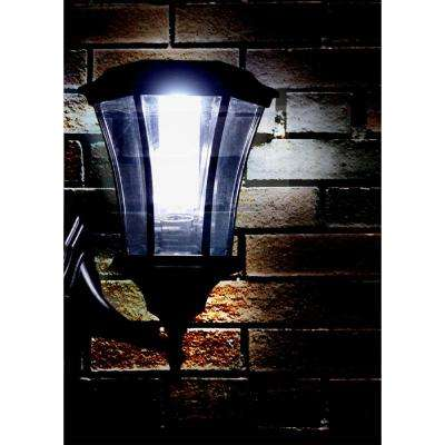 Martens 1-Head Black Outdoor Integrated LED Wall Mount Post Light