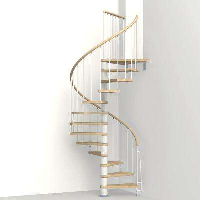 Phoenix White 47 in. Spiral Staircase Kit