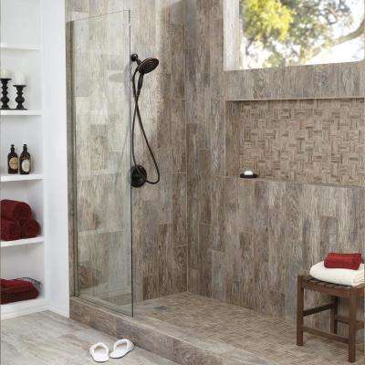 Montagna Rustic Bay 12 in. x 12 in. x 6.35 mm Ceramic Lattice Mosaic Floor and Wall Tile