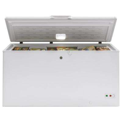 15.7 cu. ft. Manual Defrost Chest Freezer in White