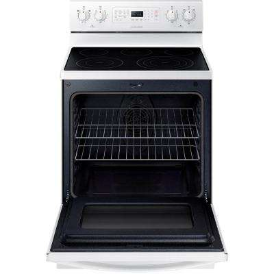 30 in. 5.9 cu. ft. Electric Range with Self-Cleaning Convection Oven in White