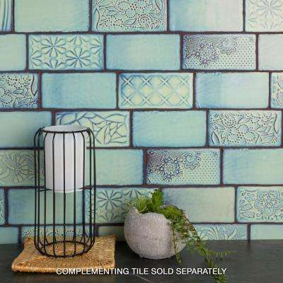 Antic Sensations Agua Marina 3 in. x 6 in. Ceramic Wall Subway Tile (1 sq. ft. / pack)