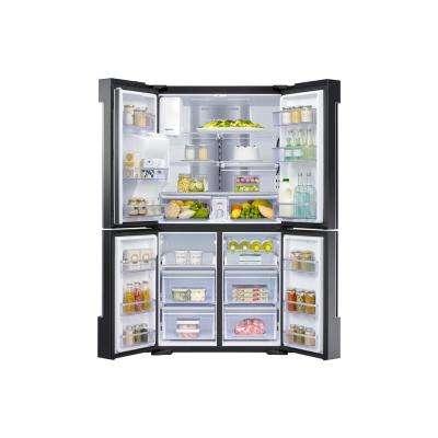 27.9 cu. ft. Family Hub 4-Door French Door Smart Refrigerator in Fingerprint Resistant Black Stainless