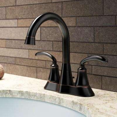 4 in. Centerset 2-Handle Bathroom Faucet in Antique Bronze