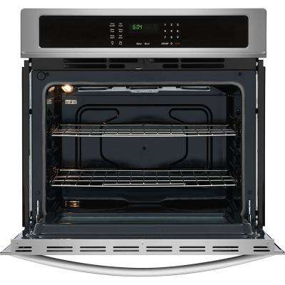 30 in. Single Electric wall Oven Self-Cleaning in Stainless Steel