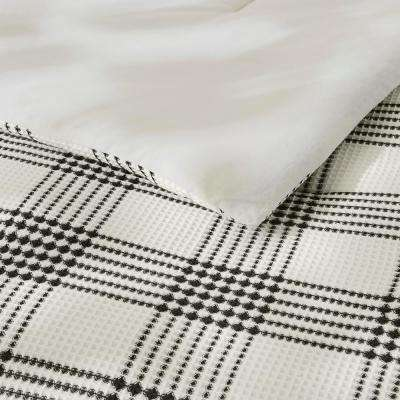 Adderley 3-Piece Black and White Plaid Comforter Set
