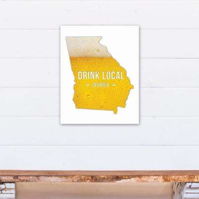 "16 in. x 20 in. ""Georgia Drink Local Beer Printed Canvas Wall Art"