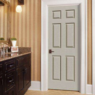 30 in. x 80 in. Colonist Desert Sand Painted Right-Hand Smooth Molded Composite MDF Single Prehung Interior Door