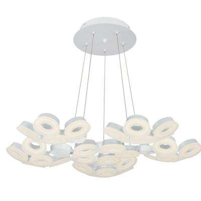 Glendale Collection 30-Light White LED Chandelier