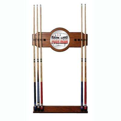 Four Aces 30 in. Wooden Billiard Cue Rack with Mirror