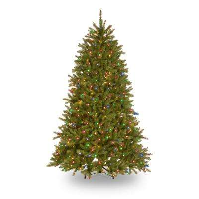 7.5 ft. Dunhill Fir Hinged Artificial Christmas Tree with 700 Low Voltage Dual (Soft White/ Multicolor) Color LED lights