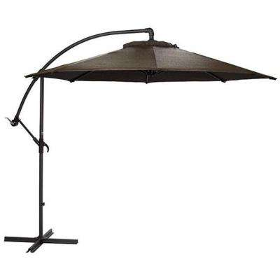 10 ft. Cantilever Patio Umbrella in Mocha with Black Frame