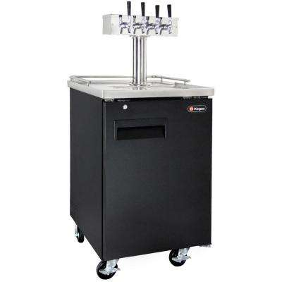 Commercial Full Size Beer Keg Dispenser with 4 Faucet Tower