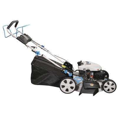 21 in. Self-Propelled 196 cc Gasoline Electric Start Walk Behind Lawn Mower with 7 Position Height Adjustment