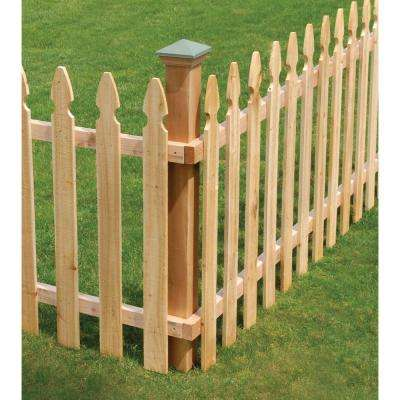 2 in. x 4 in. x 8 ft. Rough Sawn Western Red Cedar Fence Panel Backer Rail (4-Pack)