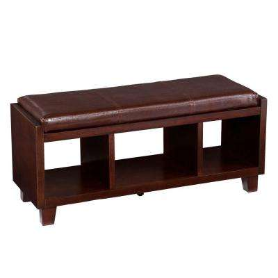 Savoia Rectangular Bench with Chocolate Cushion in Espresso