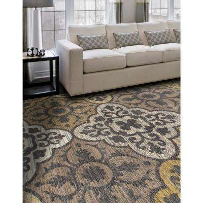 Arabella Tilework Yellow 5 ft. x 8 ft. Area Rug