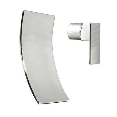Accent Single-Handle Wall Mount Bathroom Faucet in Polished Chrome