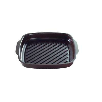 Texas Searing Aluminum Grill Pan with Nonstick Coating