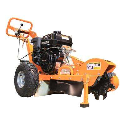 11 in. 14 HP Commercial Kohler Gas Powered Stump Grinder with Extra Set of Teeth and Precision Control Brake