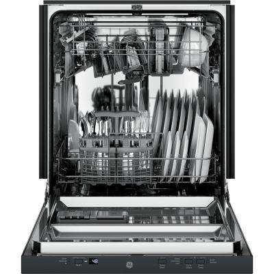 24 in. Top Control Dishwasher in Black with Stainless Steel Tub, 51 dBA