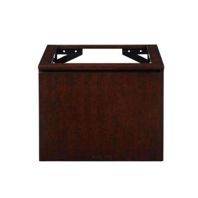 Blox 24 in. W x 21-1/2 in. D x 20 in. H Vanity Cabinet Only with Wood Front Drawer in Dark Walnut