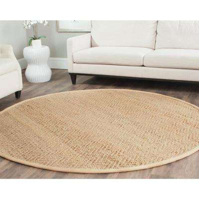 Natural Fiber Beige 5 ft. x 5 ft. Round Area Rug