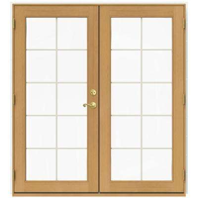 71.5 in. x 79.5 in. W-2500 Brilliant White Right-Hand Inswing French Wood Patio Door