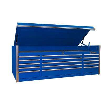 EX Professional Series 72 in. 15-Drawer Triple Bank Top Chest, Blue
