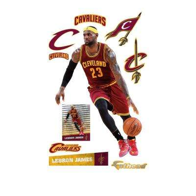 76 in. H x 51 in. W Lebron James - No. 23 Wall Mural