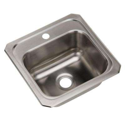 Celebrity Top Mount Stainless Steel 15 in. 1-Hole Single Bowl Kitchen Sink