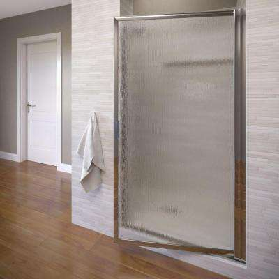 Deluxe 30-1/2 in. x 63-1/2 in. Framed Pivot Shower Door in Silver