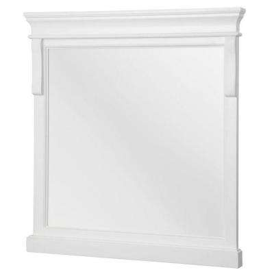 Naples 24 in. W x 32 in. H Single Framed Wall Mirror in White